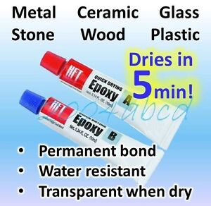 Super Strong Quick Setting metal Ceramic Glass Wood Plastic epoxy 20g Total