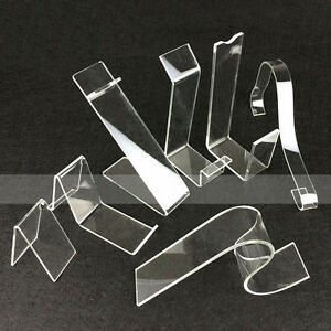 Shoe Display Slatwall Heel Rest Rack Stand Show Clear Acrylic Lot 20pcs