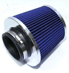 3 Cold Air Intake Filter Cone Dry Air Filter Turbo Application Universal Blue
