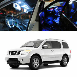 11 X 5050 Smd Full Led Interior Lights Package Deal For 2005 up Nissan Armada