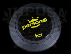 Personal Neo Grinta Steering Wheel Horn Button Yellow black Limited 4841 02 0104
