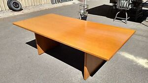 conference Room Table Light Oak 42 x 84 Solid Wood We Deliver Locally Nor Ca