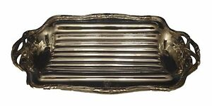 Puiforcat 950 Sterling Asparagus Serving Tray With 3 D Asparagus Handles 0509