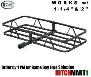 Curt Trailer Hitch Mount Cargo Rack Basket Carrier For 1 1 4 2 Receiver 18145