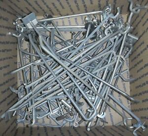 100 Pack Usa Made Assorted Sizes Metal Peg Hooks For Pegboard Or Slatwall