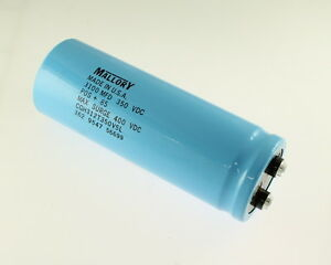 Mallory 3100uf 350v Large Can Electrolytic Capacitor Cgh312t350v5l
