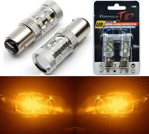 Cree Led Light 50w Bay15d 2357 Amber Orange Two Bulbs Turn Signal Parking Drive