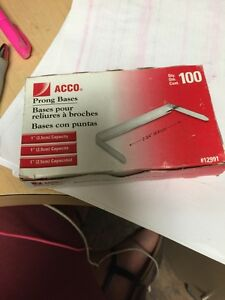 Lot Of 8 Acco Prong Paper File Fasteners 100 box