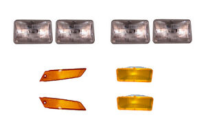 80 82 84 86 Ford Mustang Headlight And Marker Light 8 Piece Kit 79 81 83 85