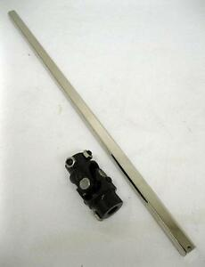 16 3 4 Dd Universal Plated Steering Shaft Black 9 16 26 X 3 4 Dd U joint