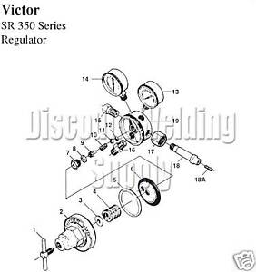 Repair Kit W Diaphragm victor Sr360 360 Reg parts Rebuild Regulator Av360rkd