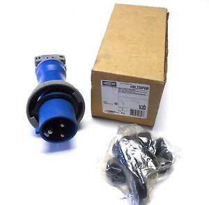 New Hubbell Hbl330p6w Pin And Sleeve Watertight Plug 30a 250vac