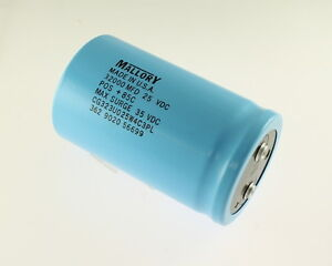 Mallory 32000uf 25v Large Can Electrolytic Capacitor Cgs323u025w4c3pl