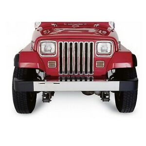 Rampage 7509 Chrome Plastic Grille Insert For 87 95 Jeep Wrangler