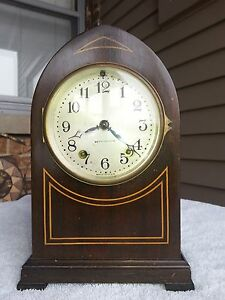Antique Art Deco Seth Thomas Gothic Essex 8 Day T S Mantel Clock Circa 1920s