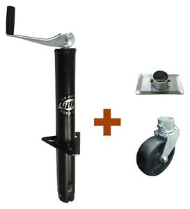 New Libra 2000 Lbs A Frame Topwind Trailer Jack With Foot Plate Amp Caster Wheel