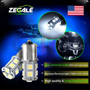 2x Super White Car Rv 1156 Ba15s 13 Smd 5050 Led Backup Reverse Light Bulbs 1141