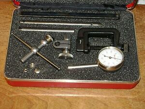 Starrett Dial Test Indicator No196a1z W Case Attachments Super Clean