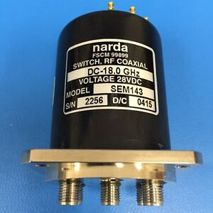 Narda Sem143 Rf Coaxial Switch Dc 18 Ghz