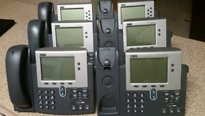 6 Genuine Cisco 7960 Ip Business Phones 3 W handset 3without Seller Rating Sale