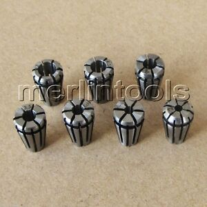 7pcs Precision Er8 Spring Collet Set 2 2 5 3 3 5 4 4 5 5 Mm