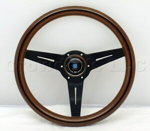 Nardi Steering Wheel Deep Dish Corn 330 Mm Mahogany Wood Black Classic Horn