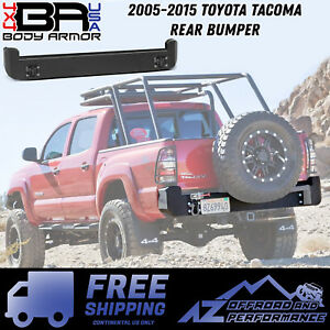 Body Armor 4x4 Rear Bumper Black Fits 2005 2015 Toyota Tacoma Tc 2961
