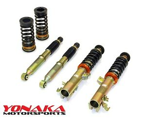 Yonaka 09 13 Honda Fit Height Adjustable Suspension Coilovers Struts Shocks Kit