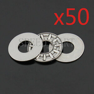 50 Pcs Axk1024 Thrust Needle Roller Bearing With Two Washers 10mm X 24mm X 2mm