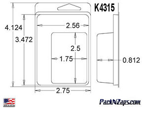 K4315 875 4 h X 3 w X 0 812 d Clamshell Packaging Clear Plastic Blister Pack