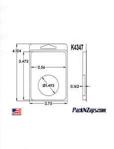 K4347 975 4 h X 3 w X 0 162 d Clamshell Packaging Clear Plastic Blister Pack