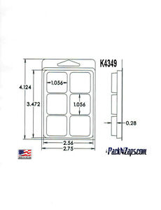 K4349 975 4 h X 3 w X 0 28 d Clamshell Packaging Clear Plastic Blister Pack