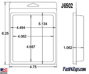 J6502 275 6 h X 4 8 w X 1 1 d Clamshell Packaging Clear Plastic Blister Pack