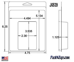 J6539 275 6 h X 4 8 w X1 13 d Clamshell Packaging Clear Plastic Blister Pack