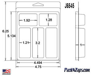 J6545 275 6 h X 4 8 w X1 d Clamshell Packaging Clear Plastic Blister Pack