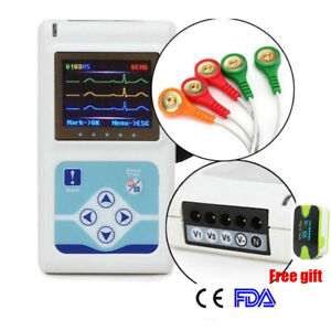 2018 Newest 3 channel Ecg Holter System recorder Monitor analyzer pc Software