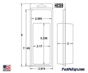 H8359 550 8 h X 2 8 w X2 d Clamshell Packaging Clear Plastic Blister Pack