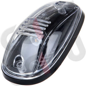 5 Oval Top Led Cab Roof Lights Running Marker Clear Lens For Dodge Ram 2500 3500