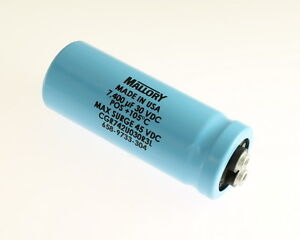 Mallory 7400uf 30v Large Can Electrolytic Capacitor Cgr742u030r3l