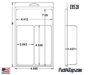 E8528 250 8 h X 4 7 w X 1 4 d Clamshell Packaging Clear Plastic Blister Pack