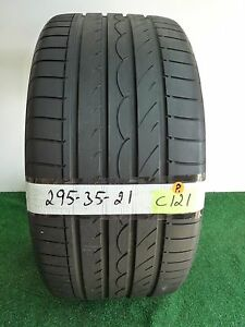 yokohama Advan Sport 295 35 21 107y Used Tire 73 7 3 32nds C121