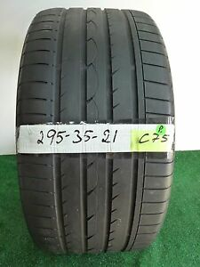 yokohama Advan Sport 295 35 21 107y Used Tire 61 6 1 32nds C75