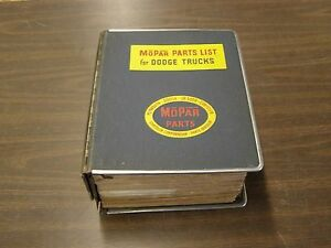 Oem Dodge 1959 1962 Truck Master Parts Book Pickup 1960 1961 D100