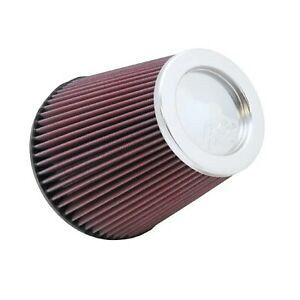K n Rf 1041 Universal Reusable Chrome Top 7 5 Round Tapered Cotton Air Filter