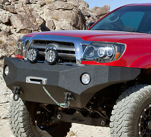 Body Armor 4x4 Front Winch Bumper Fits 2005 2011 Toyota Tacoma Tc 19335 Black