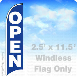 Open Windless Swooper Flag Feather Banner Sign 2 5x11 5 Bb