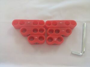 Pro Style Universal Wire Loom Separator Set Spark Plug Divider Kit Red Plastic