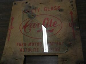 Nos Oem Ford 1964 1965 1966 Thunderbird Clear Wing Vent Glass T bird Carlite