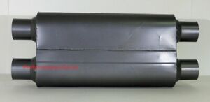 3 Chamber Performance Muffler Ceramic Dual 2 5 In Dual 2 5 Out