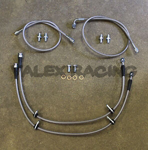 Complete Stainless Front Brake Line Replacement Kit For 88 91 Honda Civic Crx